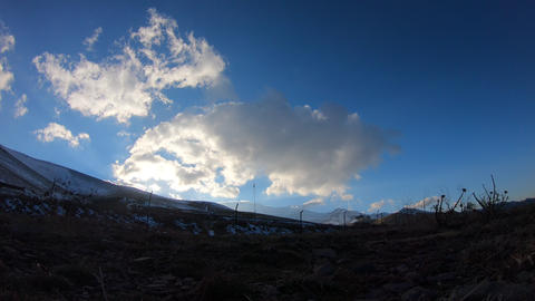 Snowy mountain Footage