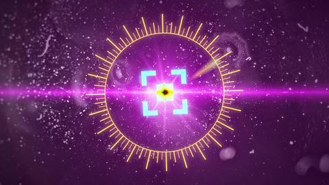 Futuristic HUD Space Sight with Optical Glare Footage