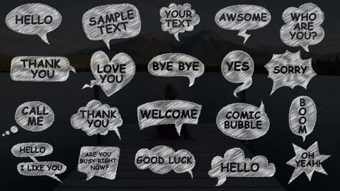 Comic Speech Bubbles After Effects Template