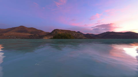 Dusk Landscape Stock Video Footage