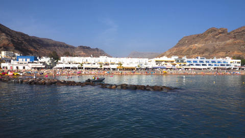 Puerto de Mogan village in Gran Canaria, Spain . Famous touristic destination in Live Action