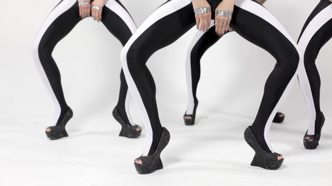 Close-up of feet dancing women's group Footage