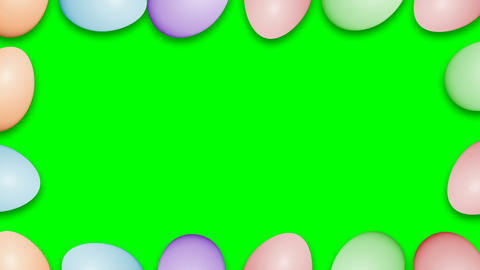 Easter eggs border frame Animation