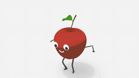 Children video animation, dancing Apple Animation