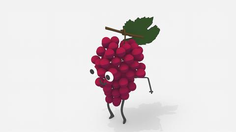 Children video animation, dancing Grape Live Action