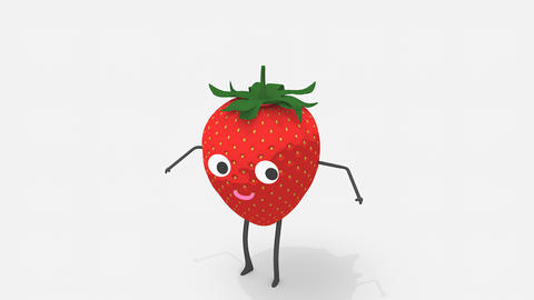 Children video animation, dancing Strawberry Live Action