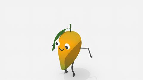 Children video animation, dancing Mango Live Action