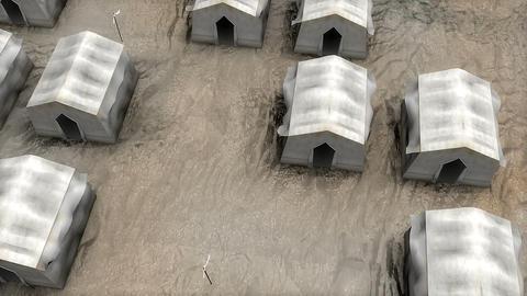 Refugees camp conflict war Live Action