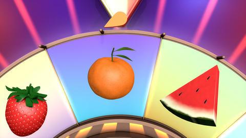 Children video animation, Wheel of fruit Pineapple Live Action