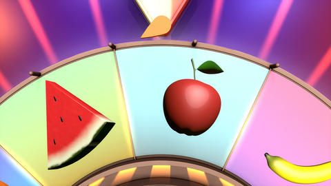 Children video animation, Wheel of fruit Grape Live Action