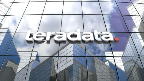 Editorial, Teradata Corporation logo on glass building Animation