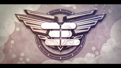 Draft 3D Wings Logo After Effects Template