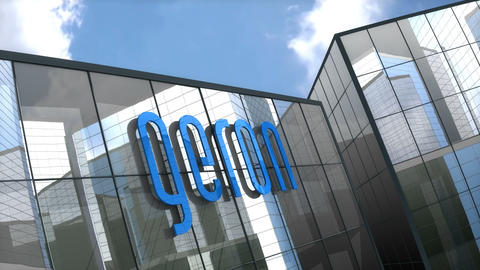Editorial Geron logo on glass building Animation