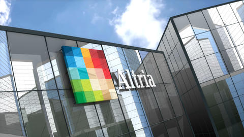 Editorial, Altria logo on glass building Live Action