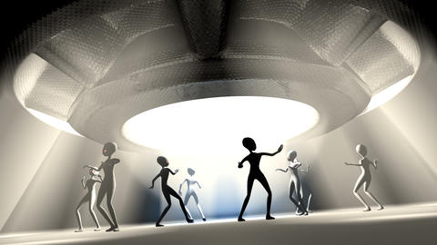 Group of Alien dancing Animation