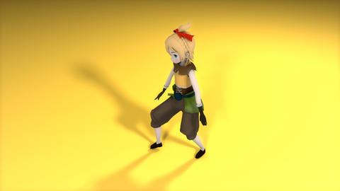 Game character dancing Animation