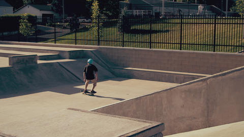 Shot of skater doing a wall ride and stumbling off his board Footage