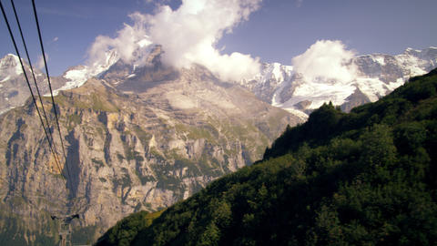 Tracking shot of the Alps in Switzerland Footage