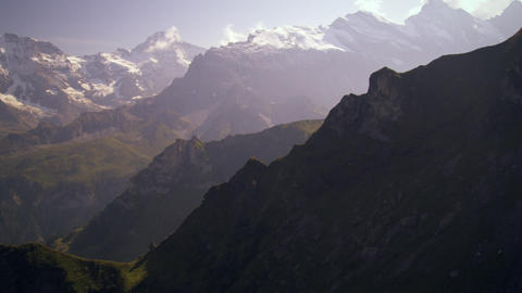 Going up the Swiss alps via aerial tramway Footage
