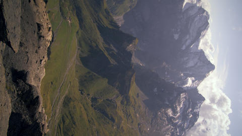 Vertical shot of beautiful mountains in Switzerland Footage