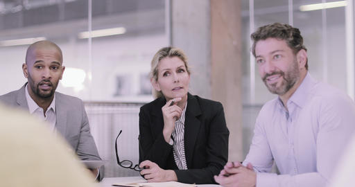 Senior female business executive leading a corporate meeting Stock Video Footage