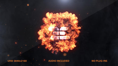 Explosion Logo Intro 4k After Effects Template