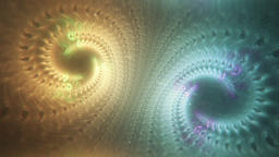Abstract Dreamy Fractal Double Spiral Slowly Turning and... Stock Video Footage