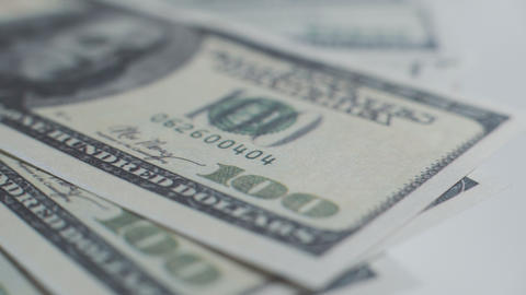 One Hundred Dollar Bills Stock Video Footage