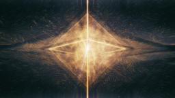 Sacred Geometry - Radiating Octahedron Containing Liquid Golden Light Rotating Animation