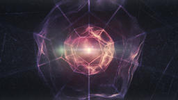 Sacred Geometry - Purple Dodecahedron Rotating in an Abstract Liquid Light Space Animation