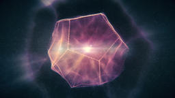 Sacred Geometry - Purple Dodecahedron Containig Liquid Light Rotating in Space Animation