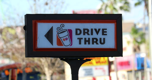 Dunkin Donuts Drive Thru Sign GIF