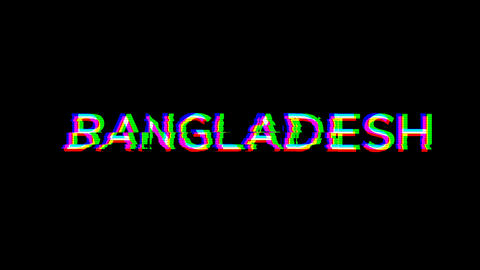 From the Glitch effect arises country name BANGLADESH. Then the TV turns off. Alpha channel Animation