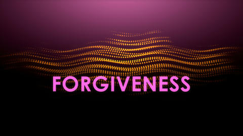 Graphic animation text, Forgiveness Animation