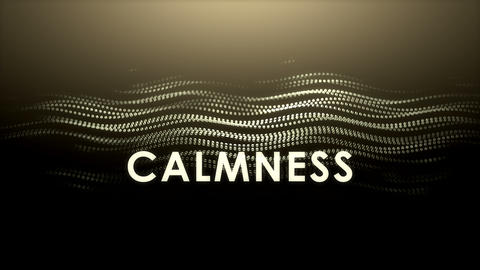 Graphic animation text, Calmness Live Action