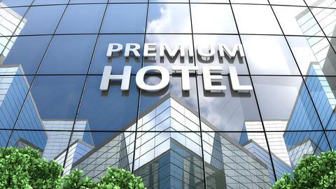 A premium hotel building Footage