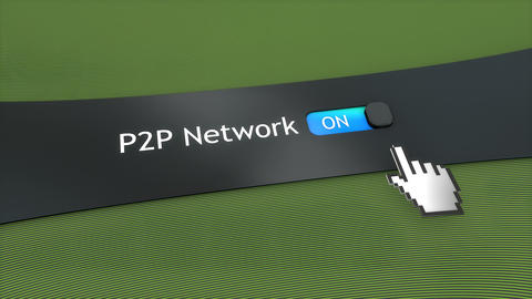 Application setting P2P network Animation