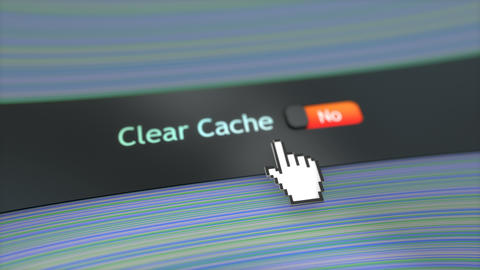 Application setting Clear cache, Stock Animation