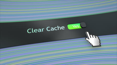 Application setting Clear cache Live Action