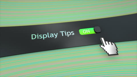 Application setting Display tips Live Action