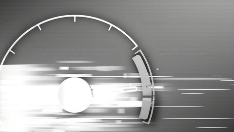Design analog speed meter Animation