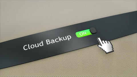 Application setting Cloud backup Animation