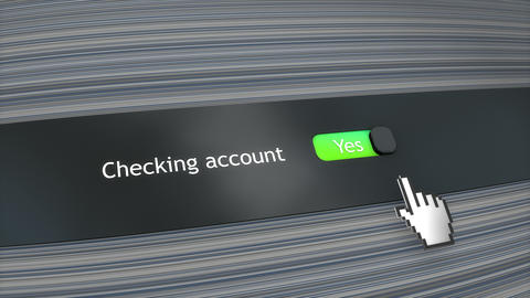 Application setting Checking account Live Action