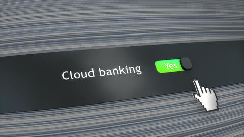 Application setting Cloud banking Animation