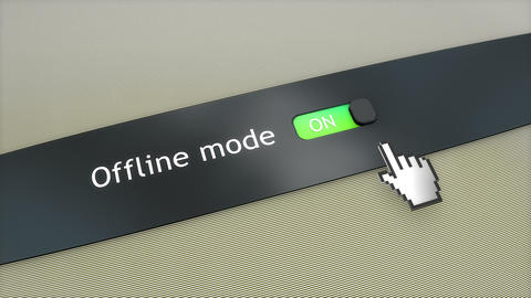 Application setting Offline mode Animation
