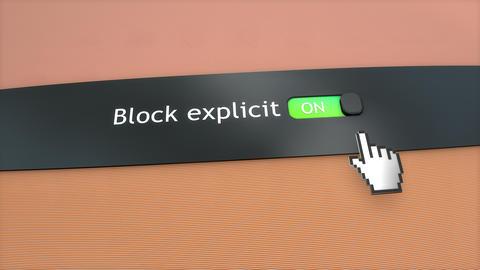 Application setting Block explicit content Footage