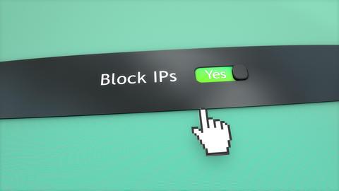 Block IP ON Stock Video Footage