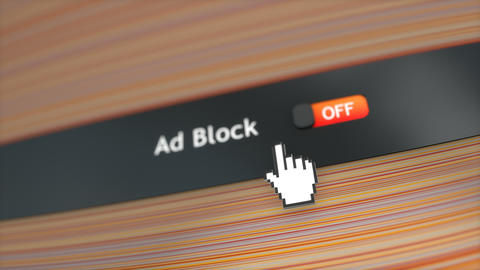 Application setting Ad block Stock Video Footage
