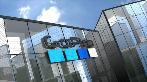 Editorial GoPro building Stock Video Footage