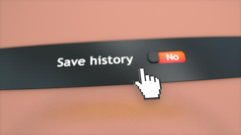 Application setting Save history Live Action